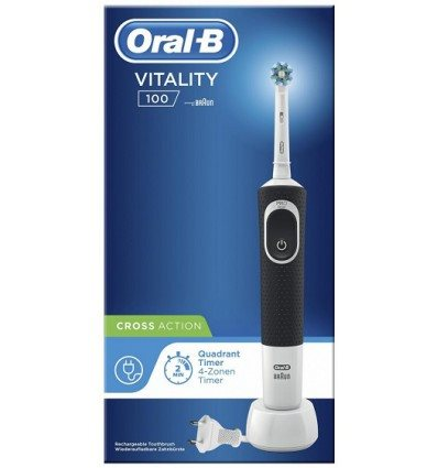 CEPILLO DENTAL BRAUN D100 NEGRO VITALITTY CROSS