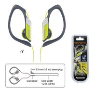 AURICULAR PANASONIC RPHS34EY LIMA DEPORTIVO      @