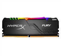DDR4 8 GB 3600 Mhz. HyperX FURY RGB BLACK KINGSTON