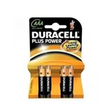PILAS DURACELL PLUS POWER AAA (LR03) K4 (4 UDS)